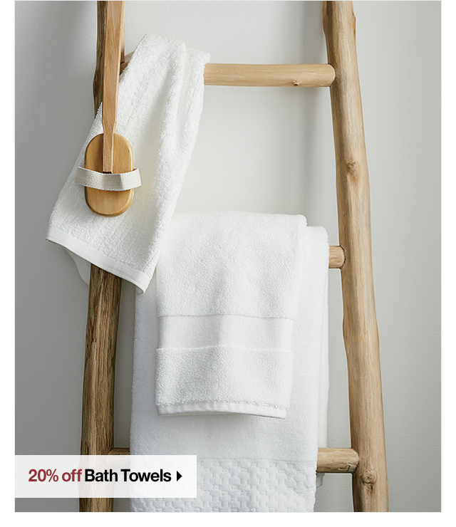 20% off Bath Towels