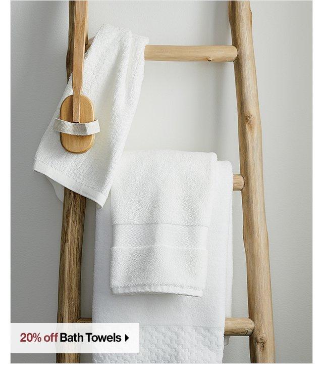 20% off Bath Towels