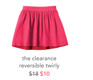 the clearance reversible twirly