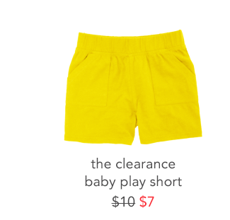the clearance baby play short