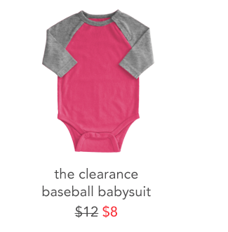 the clearance baseball babysuit