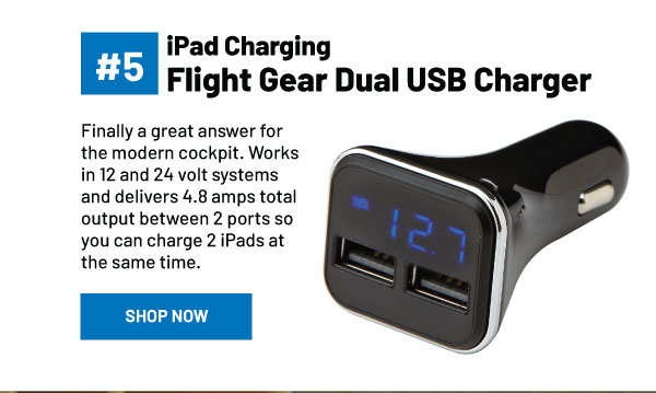 Flight Gear Dual USB Charger