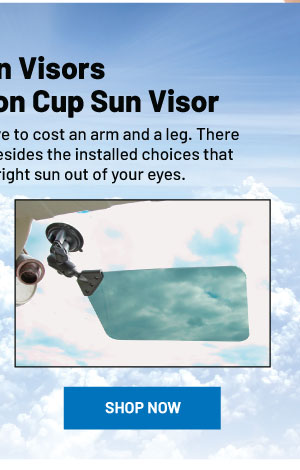 RAM Sun Visor with Suction Cup Kit