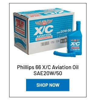 Phillips 66 X/C Aviation Oil SAE20W/50 (case of 12 quarts)