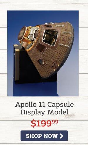 Apollo 11 Capsule Display Model