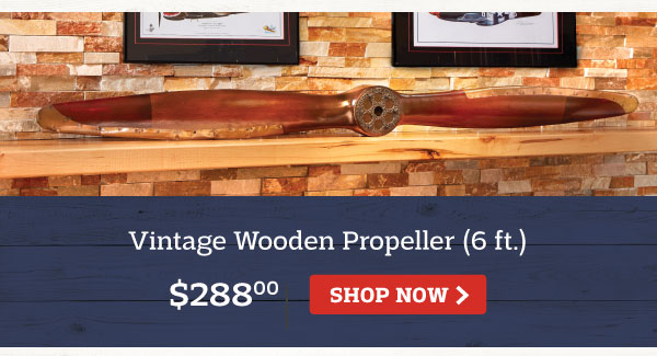Vintage Wooden Propeller (6 ft.)