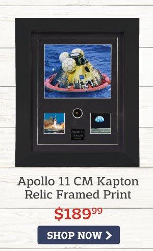 Apollo 11 CM Kapton Relic Framed Print