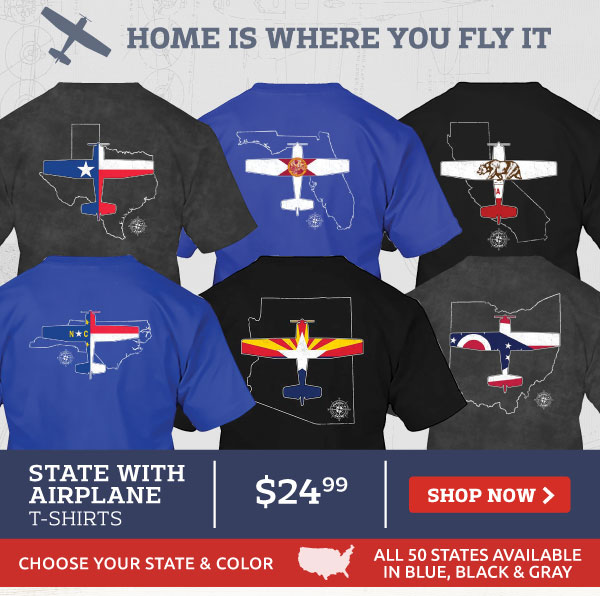 State with Airplane T-Shirts