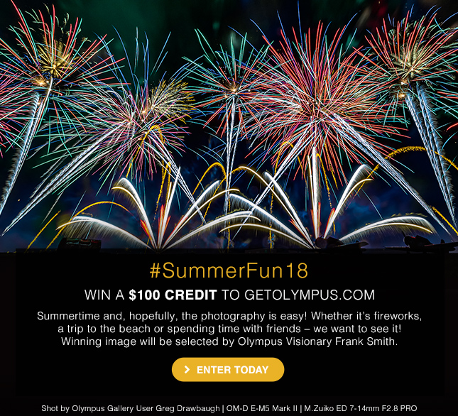 #SummerFun18 - WIN A $100 CREDIT TO GETOLYMPUS.COM