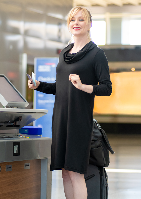 7bc5ae041d16 Betabrand: New Cowl-Neck Sweatshirt Travel Dress! | Milled