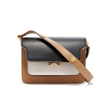 Marni Color-Block Leather Borso Tracolla Bag $1,850