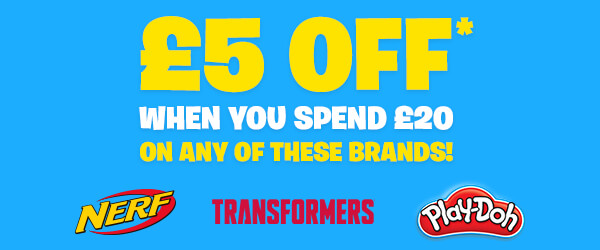 5 OFF When You Spend 20 on NERF, Transformers and Play-Doh