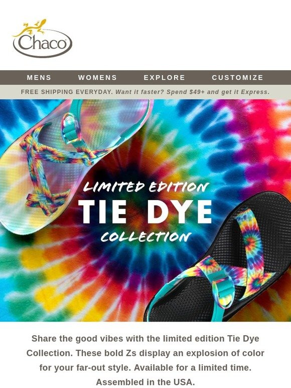 b03634c09de Chaco  New Limited Edition Tie Dye Z s