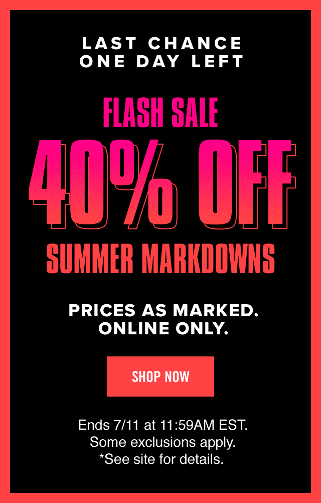 Shop Now: Converse 40% Off Summer Markdowns