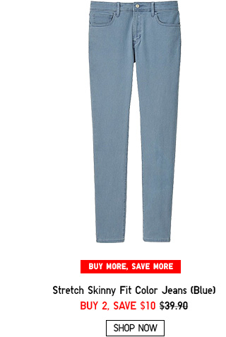 MEN STRETCH SKINNY FIT JEANS BLUE - SHOP NOW