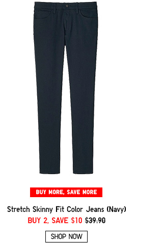 MEN STRETCH SKINNY FIT JEANS NAVY - SHOP NOW