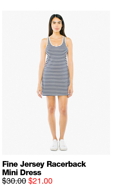 Fine Jersey Racerback Mini Dress