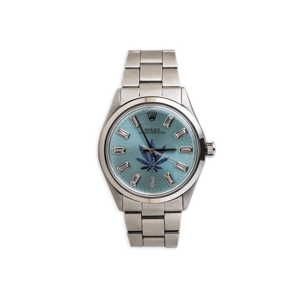 Image of Blue Sweet Leaf Vintage Rolex