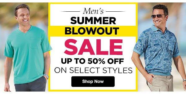 Shop Men's Summer Blowout Sale!