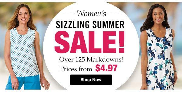 Shop Women's Sizzling Summer Sale!