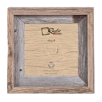 4x4 Rustic Barn Wood Signature Wall Frame