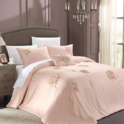 Chic Home Rossie 5-piece Comforter Set, Shams, Bed skirt and Decorative Pillow Included