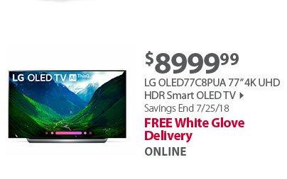 LG OLED77C8PUA 77' 4K UHD HDR Smart