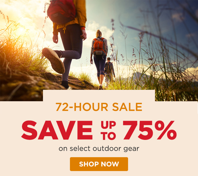 72-Hour Sale - Save up to 75%