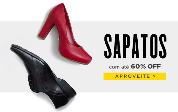 8b6bef12ad Passarela  Sapatos com até 50% OFF!