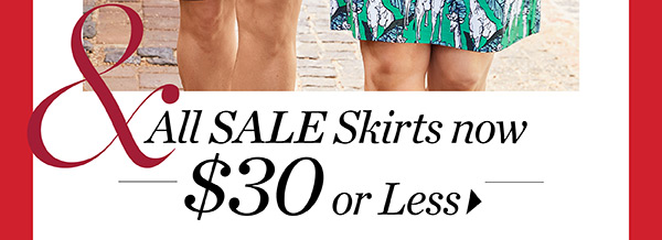 All Sale Skirts Now $30 or less. Shop Sale Skirts