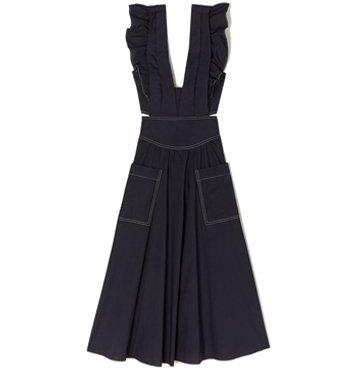 Rebecca Taylor La Vie Sleeveless Cotton Poplin Dress $325