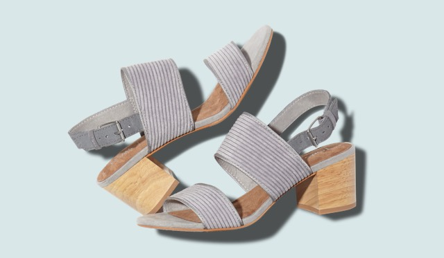 Cement Corduroy Women's Poppy Sandals