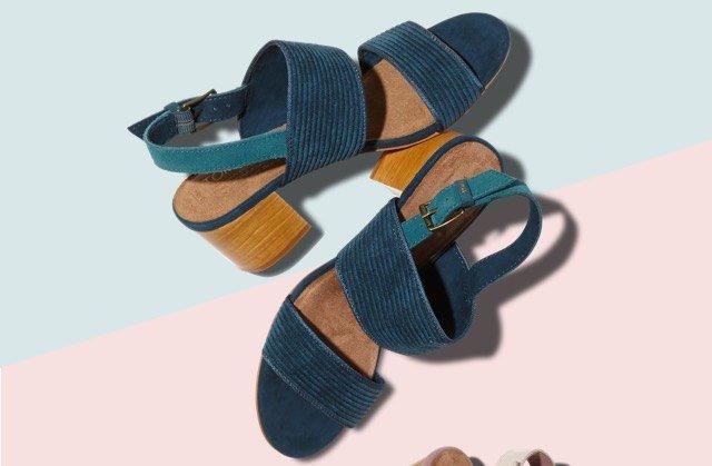Atlantic Corduroy Women's Poppy Sandals