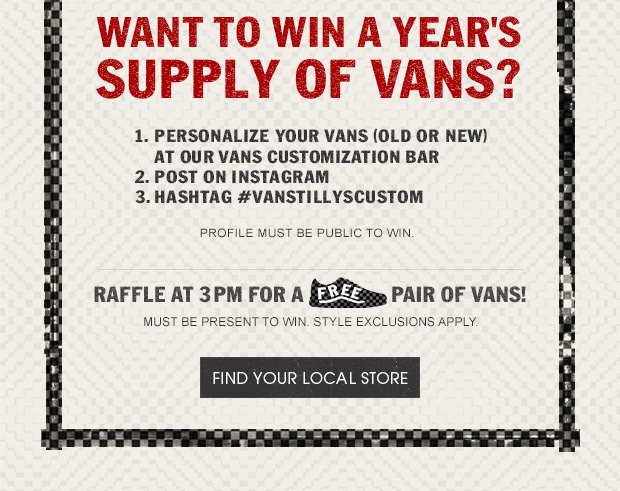 Join Us - July 14th, 1-3pm. Customize Your Vans (Old or New)...