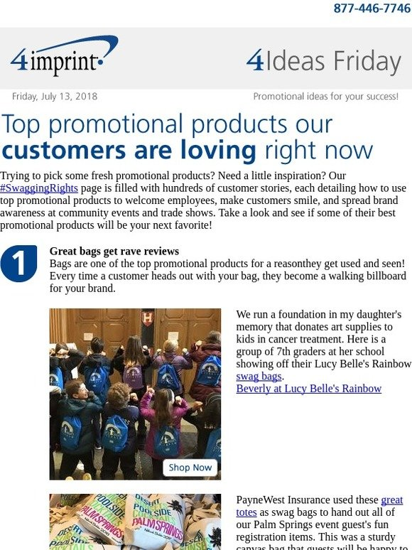 4imprint Inc : 4 Ideas Friday: Top promotional products our