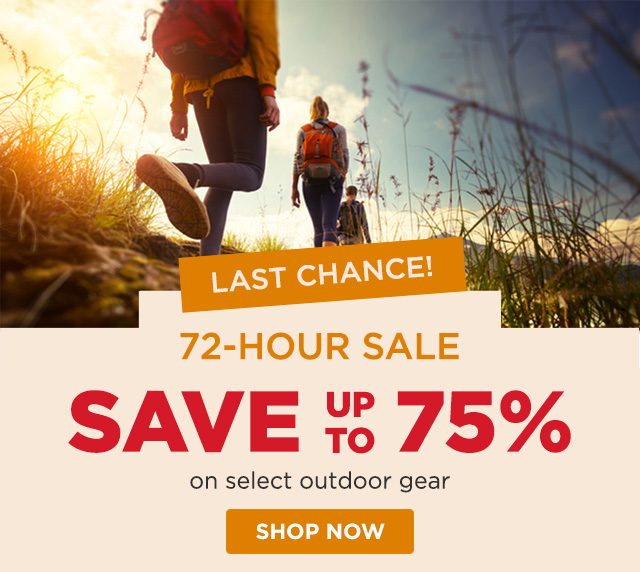 Last Chance - 72-Hour Sale - Save up to 75%
