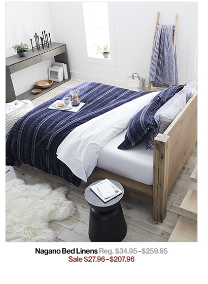 Nagano Bed Linens Reg. $34.95$259.95 Sale $27.96$207.96