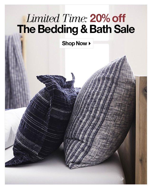 20% off The Bedding & Bath Sale
