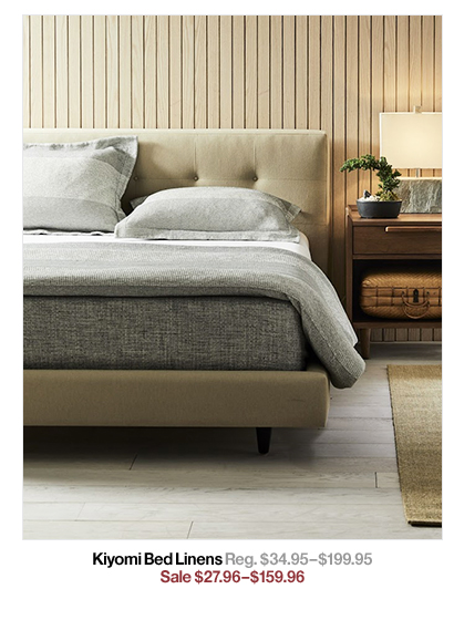 Kiyomi Bed Linens Reg. $34.95$199.95 Sale $27.96$159.96