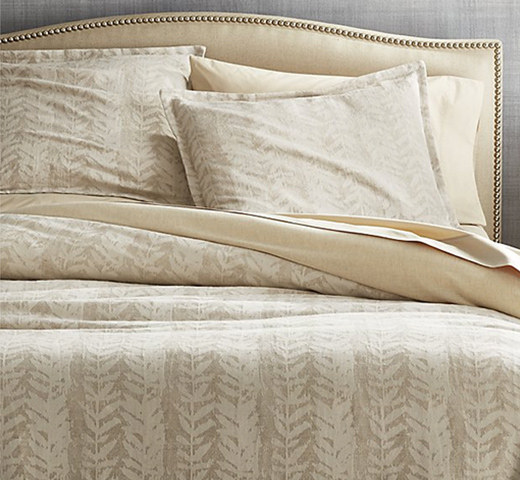 Ellis Leaf Pattern Bed Linens