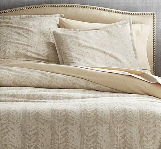Ellis Leaf Pattern Bed Linens