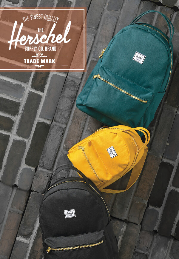 BACKPACKS - New Styles Are Here feat. Herschel Supply - SHOP NOW