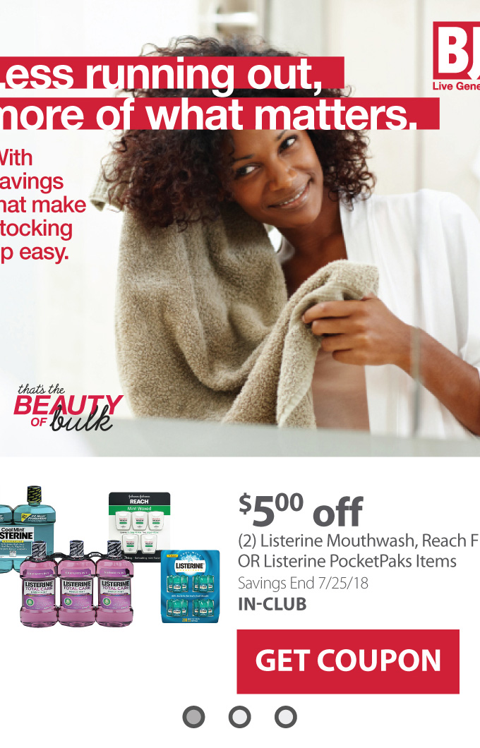 Feature Listerine GET COUPON