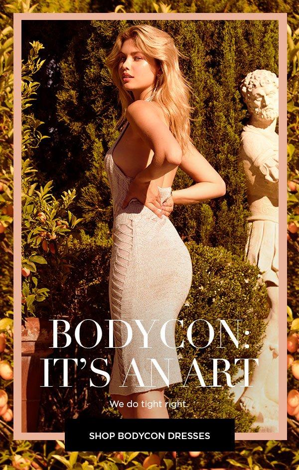 Bodycon: It's an Art   We do tight right.   SHOP BODYCON DRESSES >