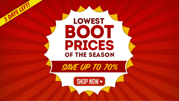 Lowest Boot Prices of the Year