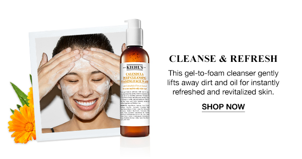 CLEANSE & REFRESH - This gel-to-foam cleanser gently lifts away dirt and oil for instantly refreshed and revitalized skin. - SHOP NOW