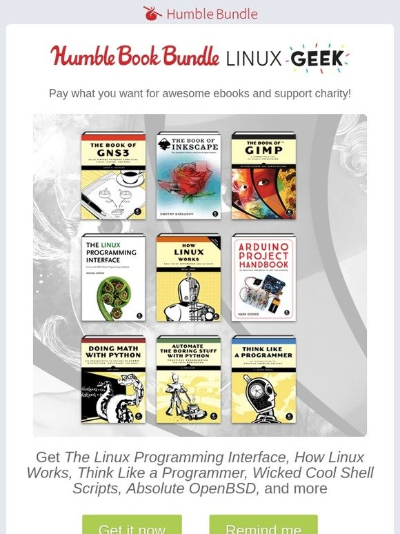 Humble Bundle: Geek out with Linux in our new book bundle