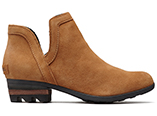 A profile view of the Lolla Cut Out in camel brown.
