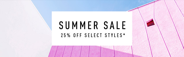 Summer Sale 25% off Summer Sale, pink and blue geometric background