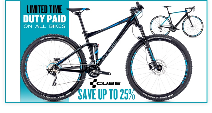 Save up to 25% on 2018 Cube Bikes